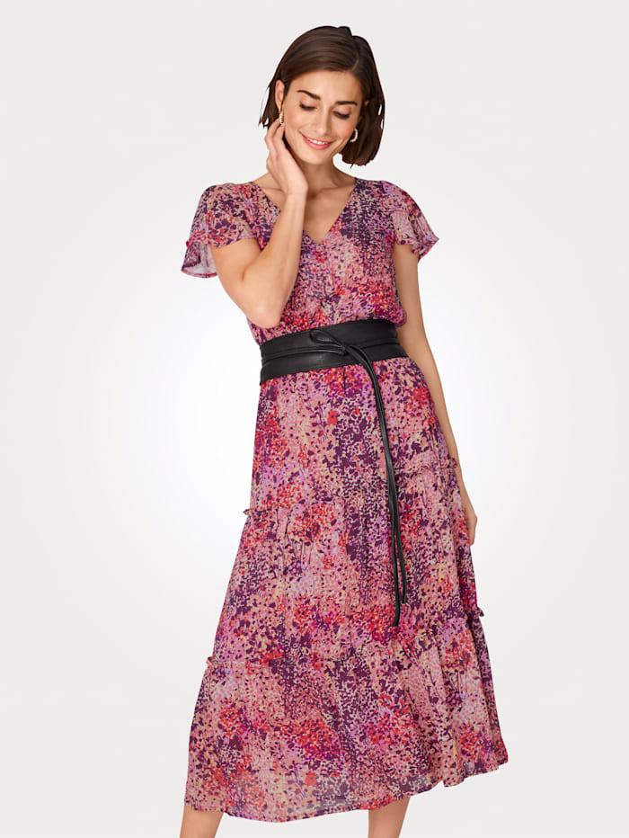 Kleid in Millefleurs-Dessin