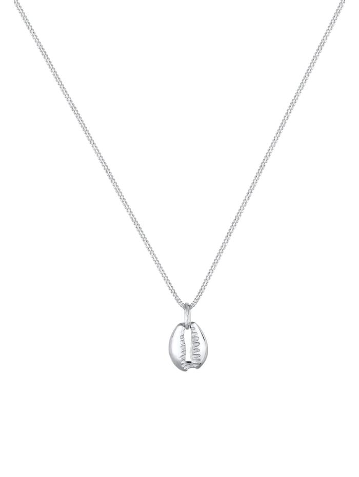 Halskette Muschel Anhänger Maritim Meer 925 Sterling Silber