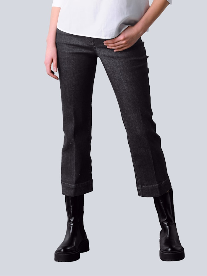 Alba Moda Jeans Culotte im 5-Pocket Style, Black stone