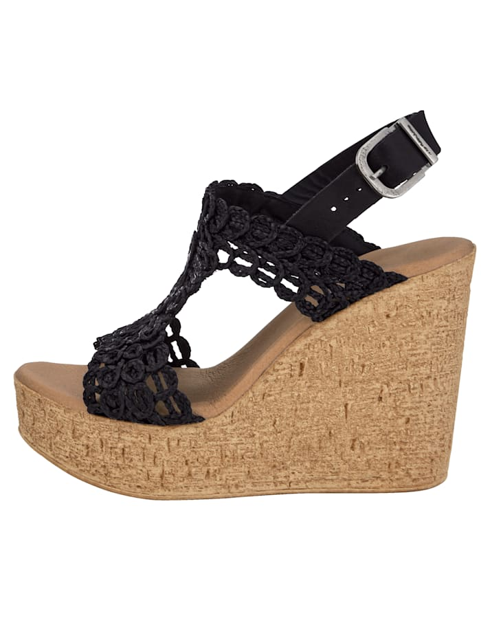 Sandaler med makramémønster