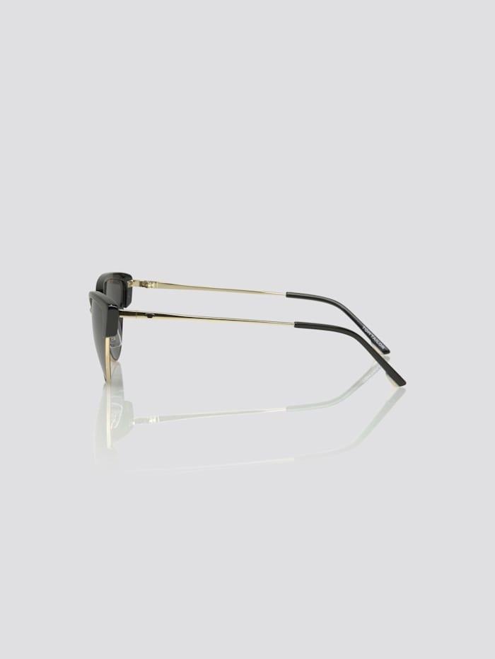 Cat-Eye Sonnenbrille mit farbigem Rahmen