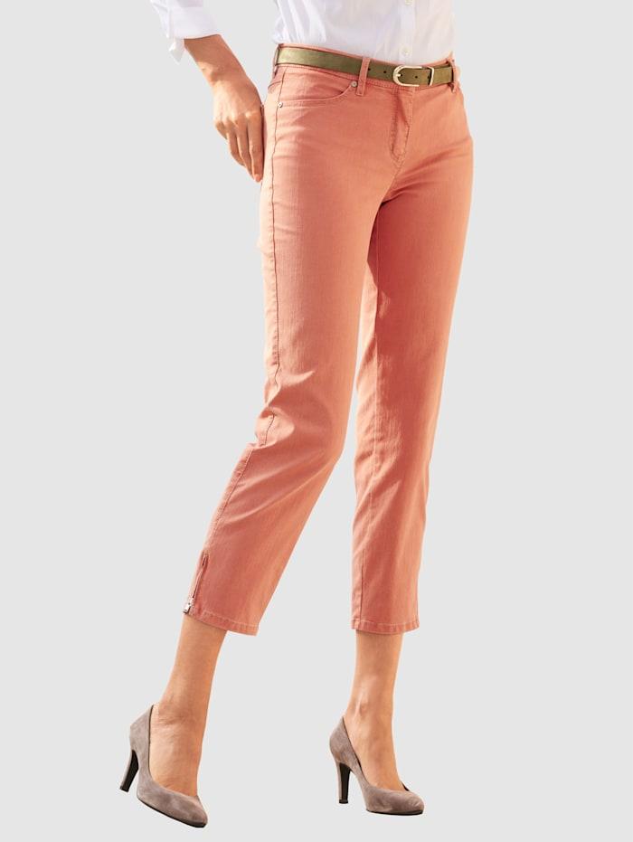Toni 7/8-Jeans mit Saum-Reißverschluss, Terracotta