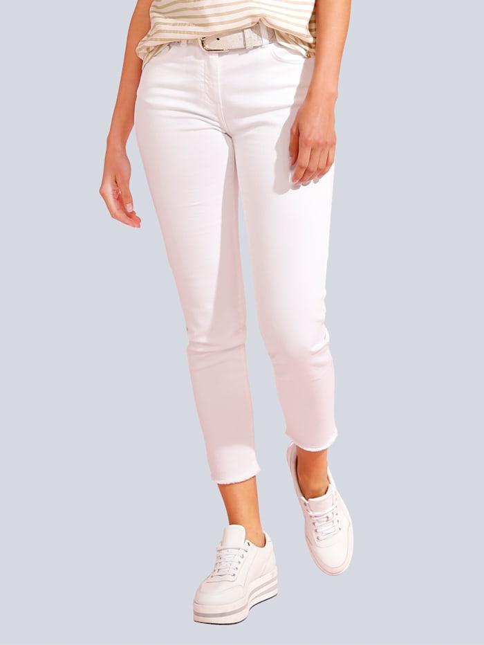 JETTE JOOP Jeans mit Fransenkante, Weiß