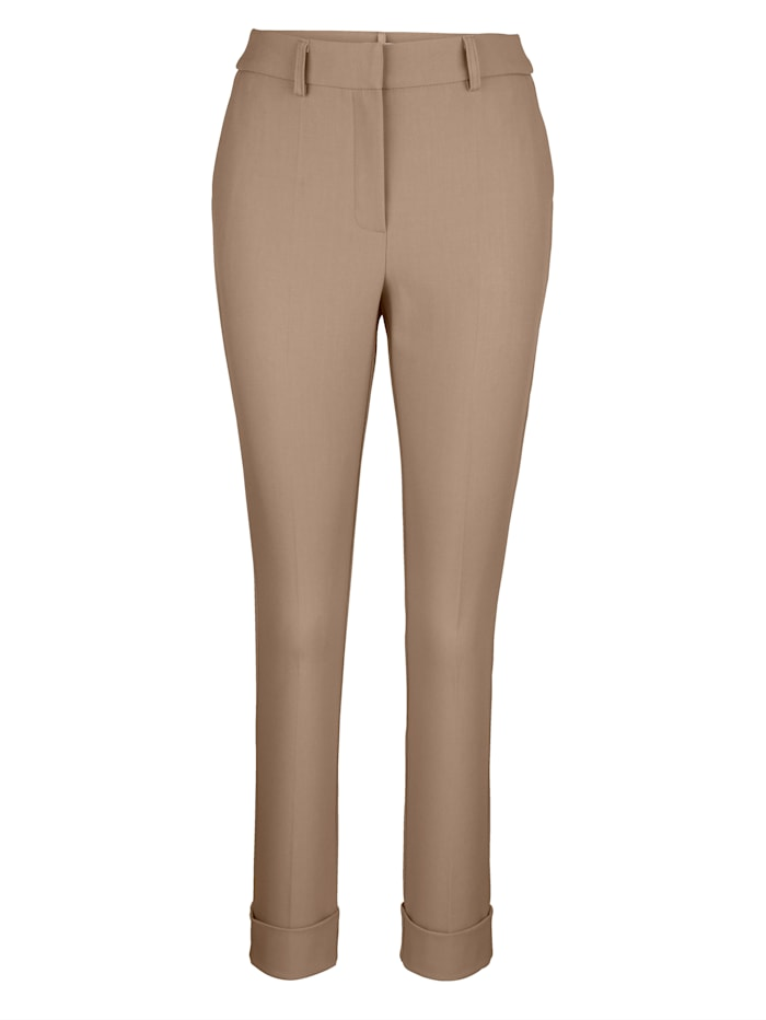 Trousers made from a soft fabric blend