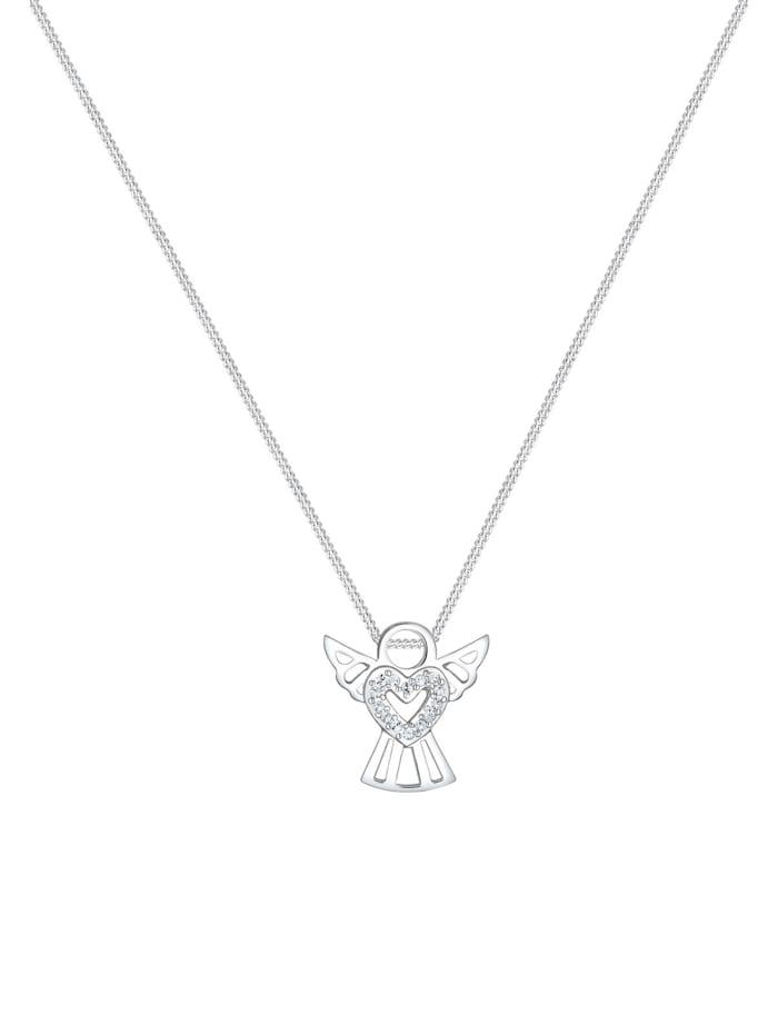 Halskette Engel Herz Kristalle 925 Silber