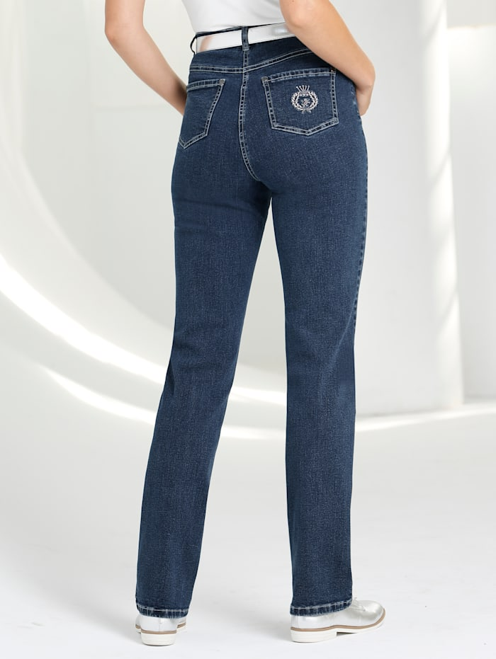 Paola Classic jeans made from stretch cotton, Blue