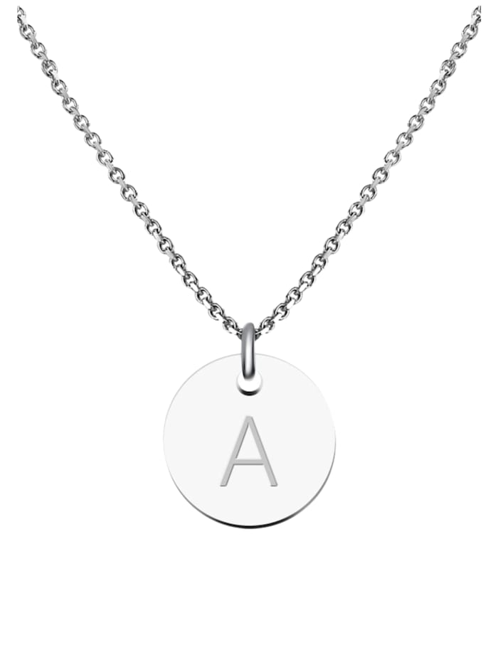 GOOD.designs Kette mit Anhänger Edelstahl Halskette A, silber