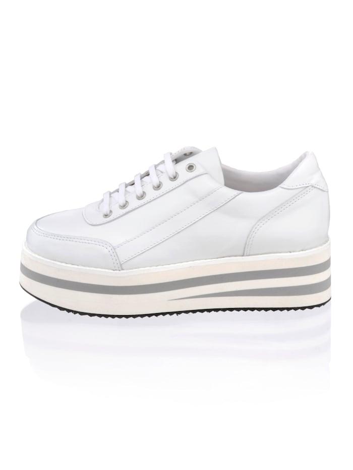 Alba Moda Sneaker mit sportlichen Nähten, Weiß