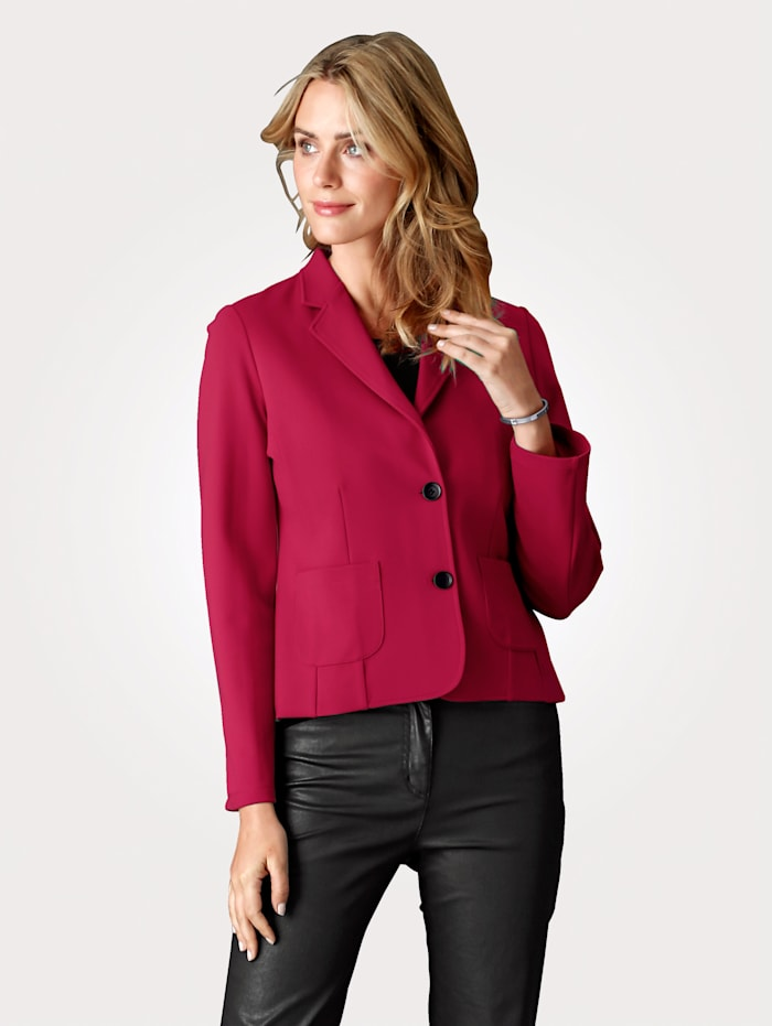 MONA Blazer made from super soft jersey, Red