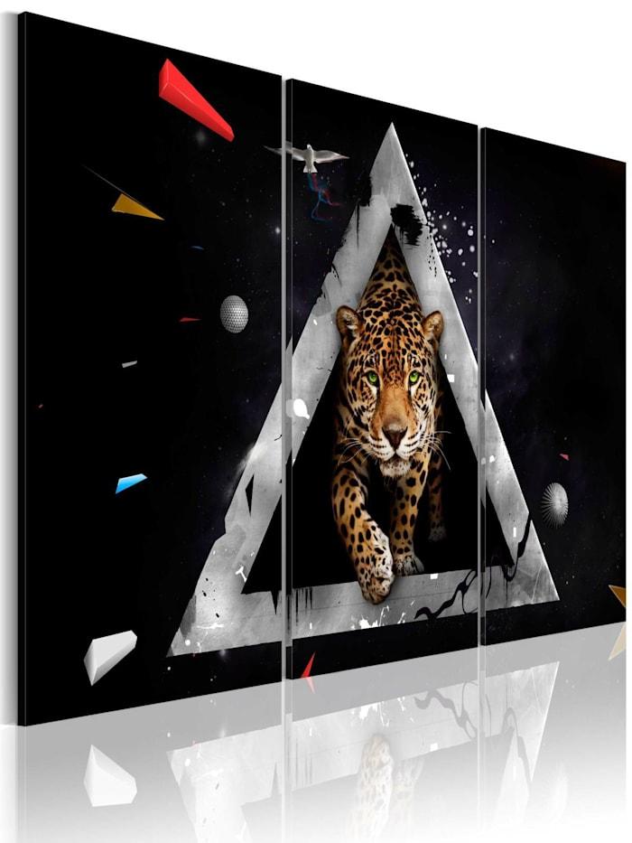 artgeist Wandbild Der Tiger kommt!, Schwarz,Grau,Orange