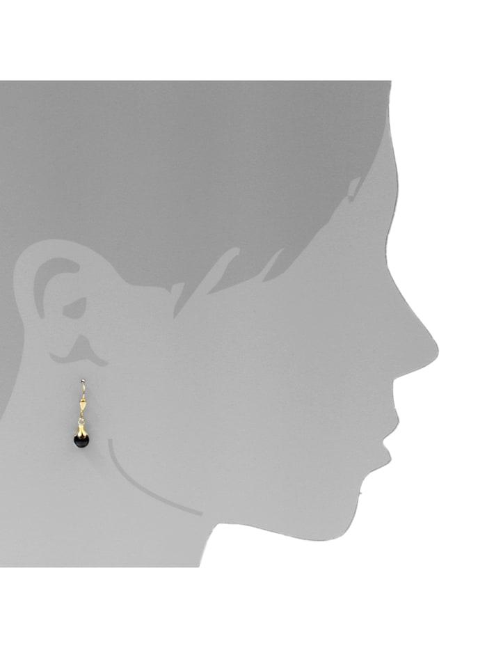 Ohrhänger - Glöckchen - Gold 333/000 - Onyx