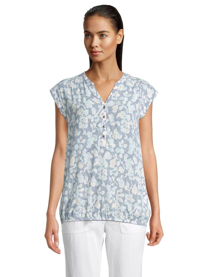 Betty & Co Casual-Bluse ohne Arm Druck, Blau