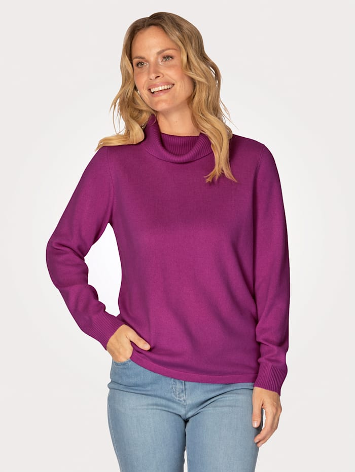 MONA Kaschmir-Pullover mit Rollkragen, Cyclam