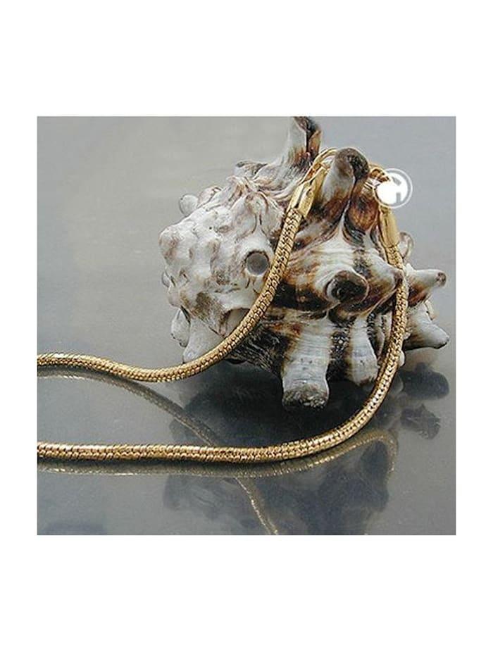 Gallay Schmuckgroßhandel Armband 2mm Schlangenkette rund diamantiert vergoldet AMD 19cm, gold