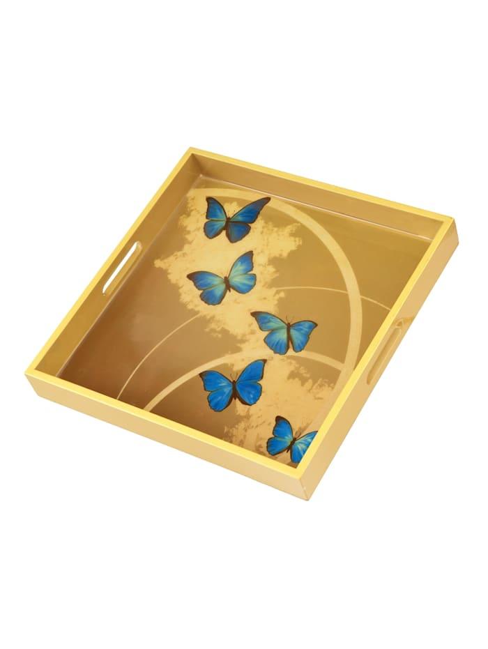 """Goebel Goebel Tablett Joanna Charlotte - """"Blue Butterflies"""", Bunt"""
