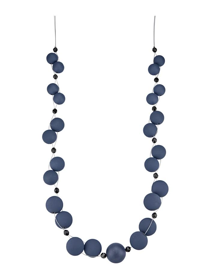 Halskette mit blauen Kugeln, Blau