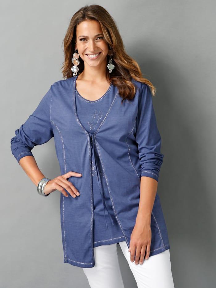 Twinset aus Shirtjacke und Top
