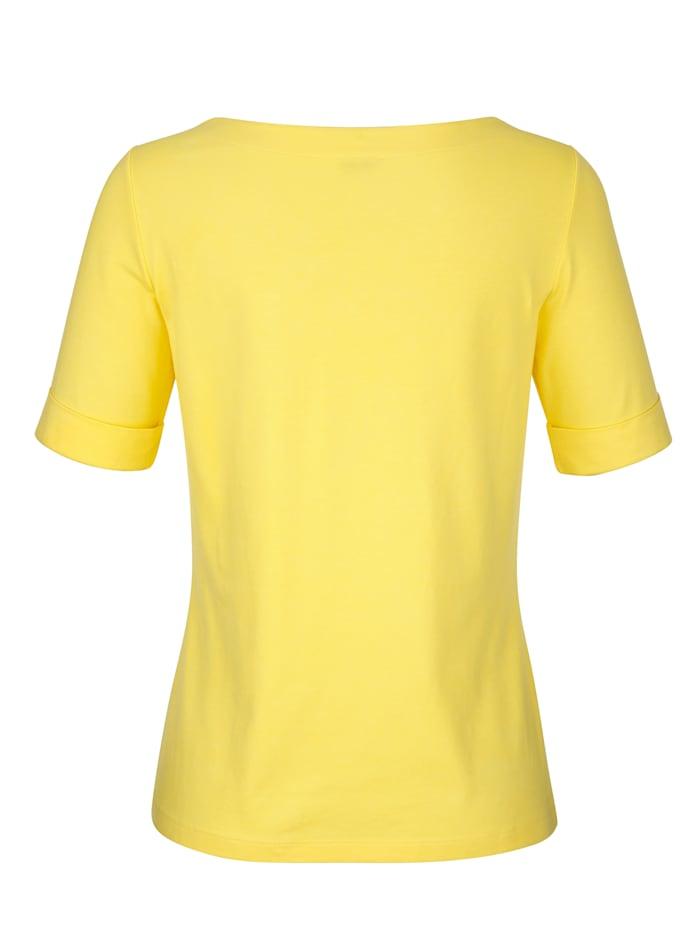 Shirt in hochwertiger Materialmischung