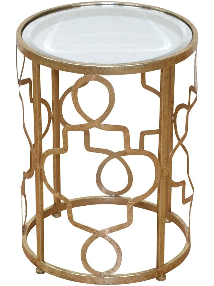 Möbel-Direkt-Online Beistelltisch Jenny, antik goldfarben