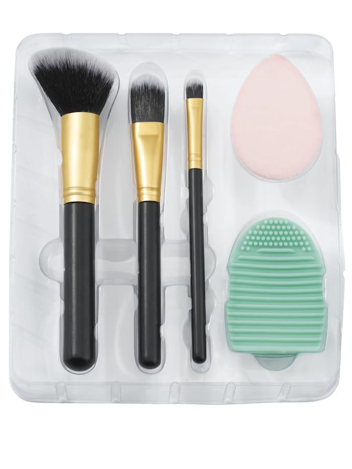 Makeup-tillbehör, set i 5 delar, svart