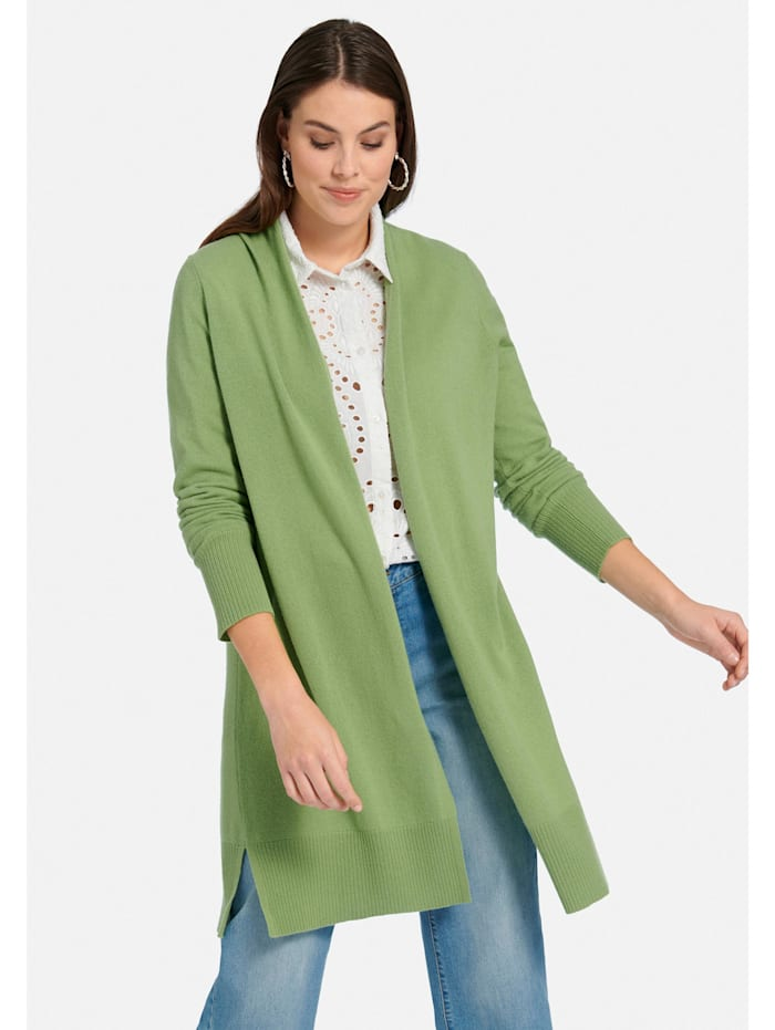 Long-Strickjacke aus 100% Premium-Kaschmir .