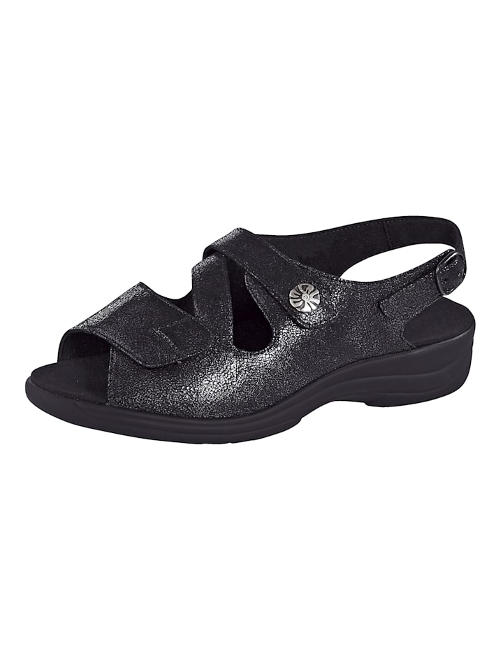 Solidus Sandale, Schwarz