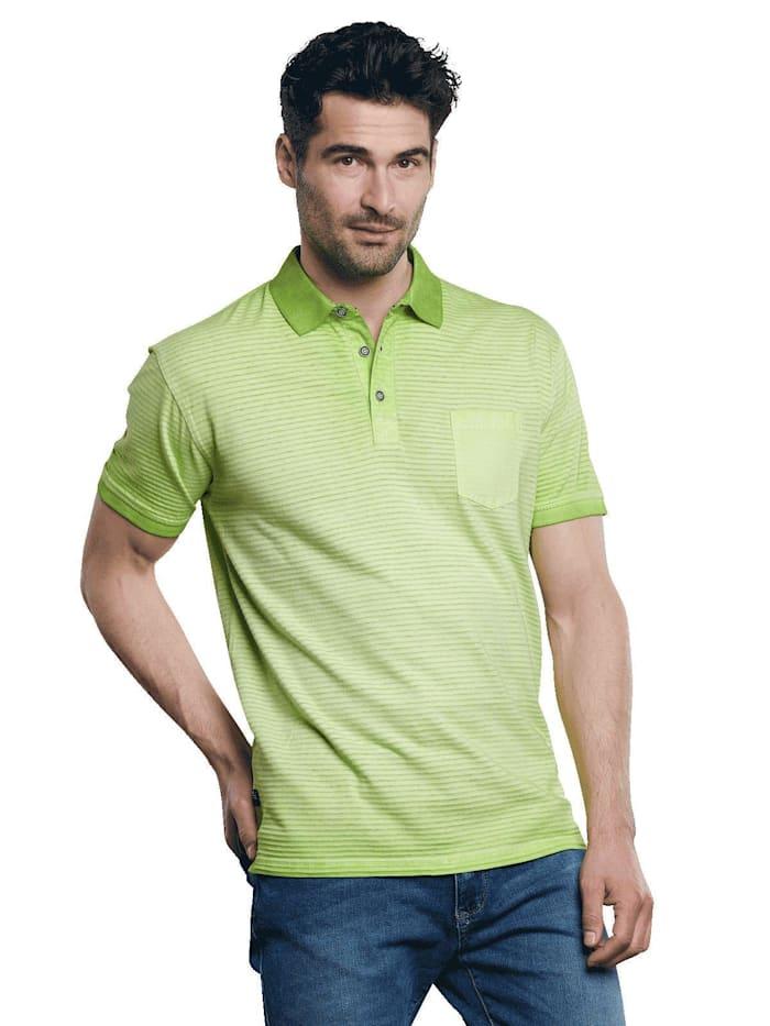 Engbers Poloshirt gestreift, Signalgrün