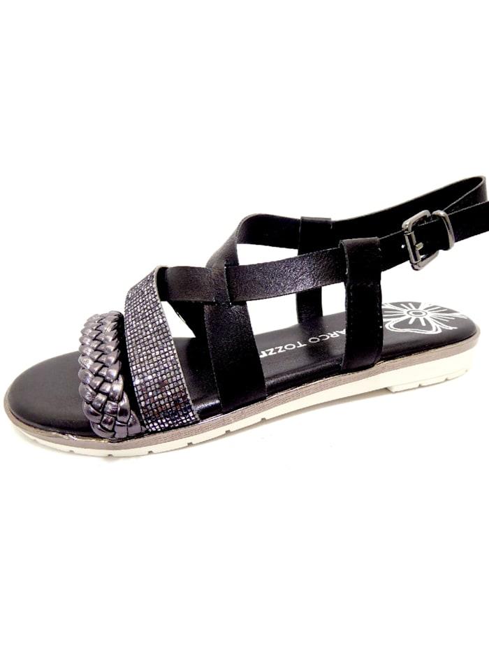 Marco Tozzi Sandale Sandale, schwarz