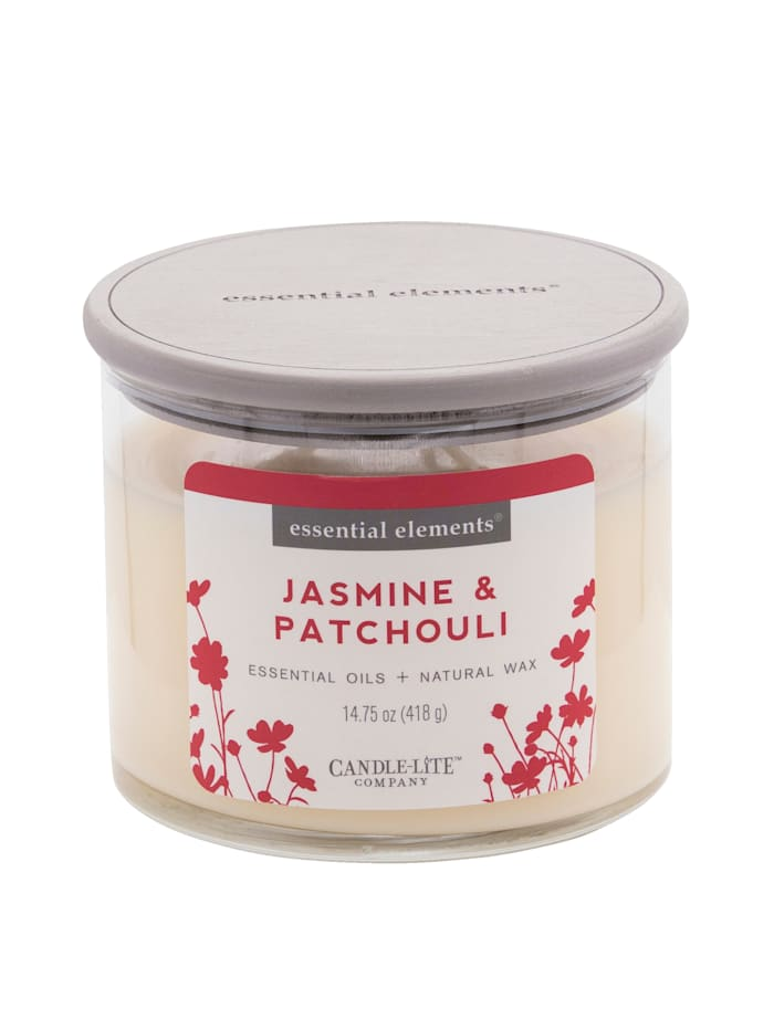 Candle-Lite Duftkerze Jasmin, weiß