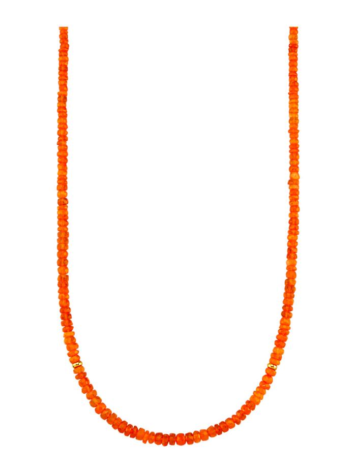 Diemer Farbstein Opal-Kette, Orange