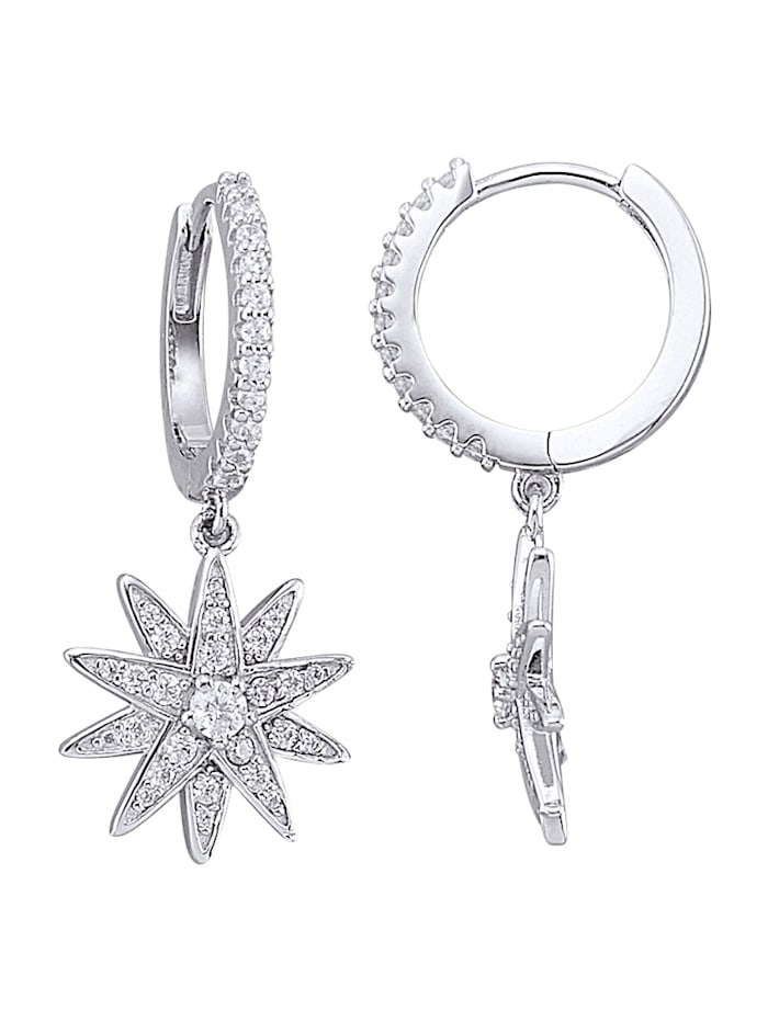 Atelier Imperial Sisi Örhängen med stjärna, Silverfärgad