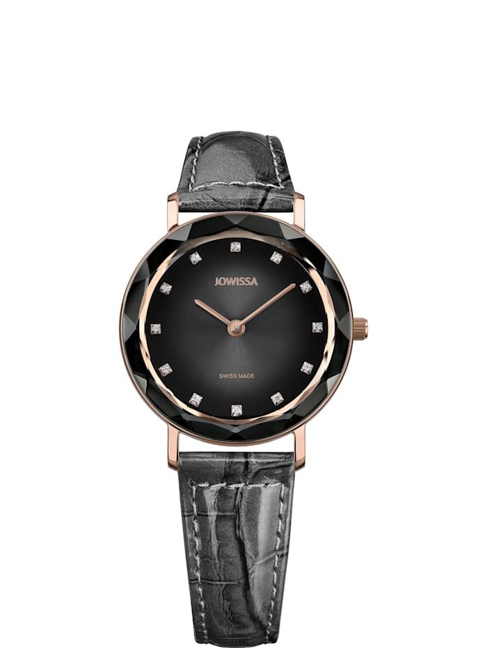 Jowissa Quarzuhr Aura Swiss Ladies Watch, grau