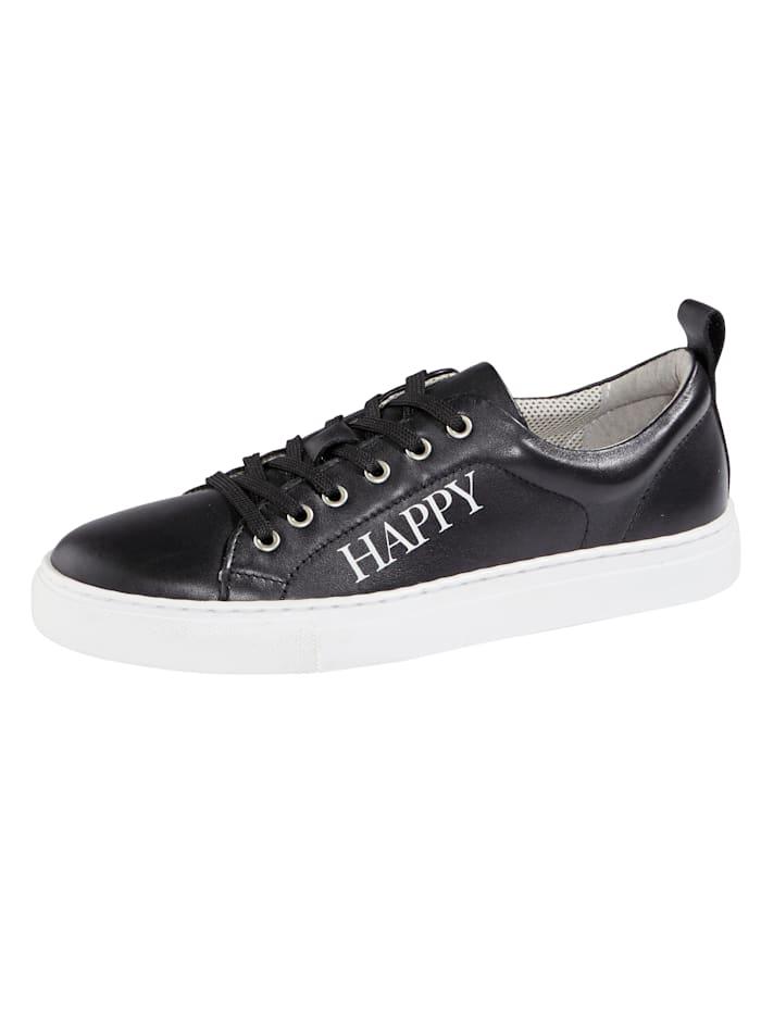 Filipe Shoes Sneaker met modieus HAPPY-opschrift, Zwart