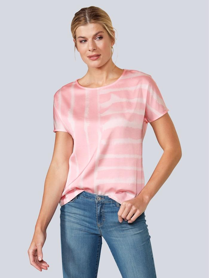 BRAX T-Shirt im Batikdruck, Rosé