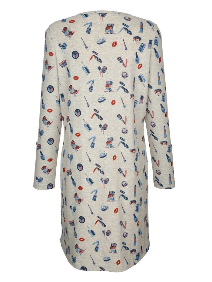 Nachthemd mit hochknöpfbaren Ärmelaufschlägen