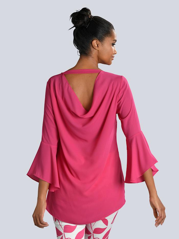 Bluse mit großzügigem Rückenausschnitt