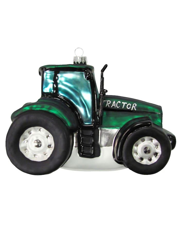 Krebs Glas Lauscha Weihnachtshänger 'Traktor', Grün