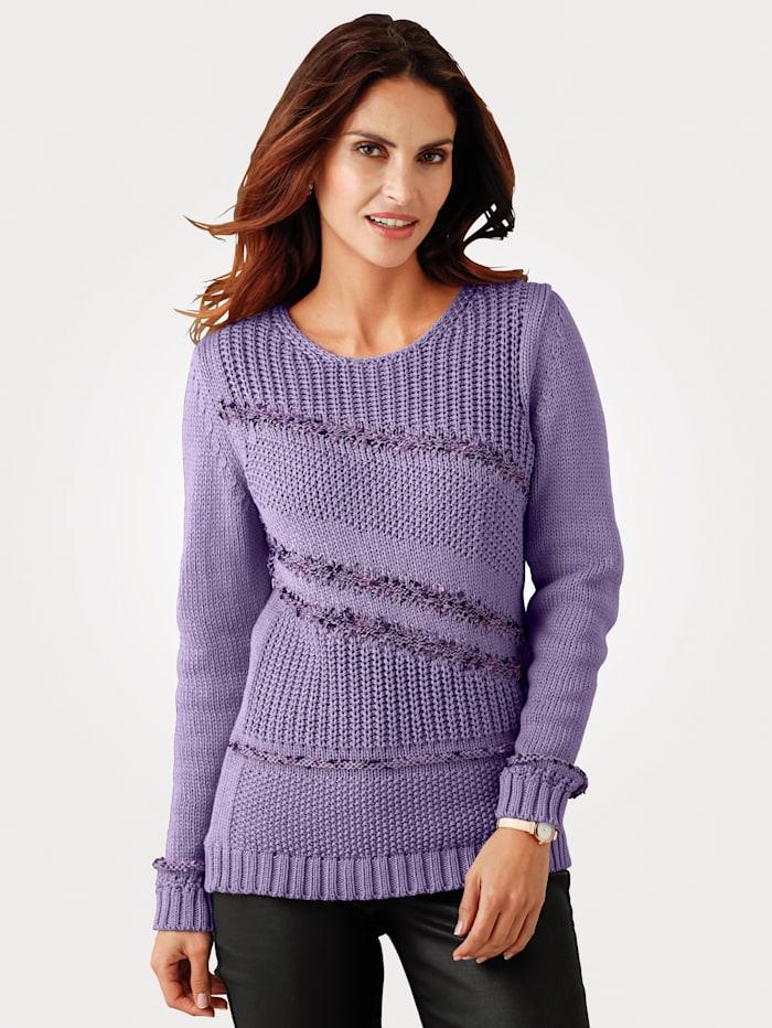 Jumper with mélange knit detailing