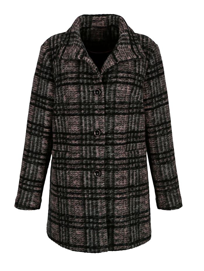 Veste en laine mélangée à carreaux
