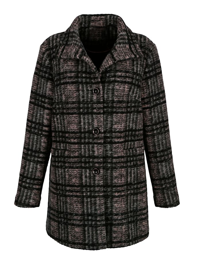 Wool-blend jacket in a check pattern