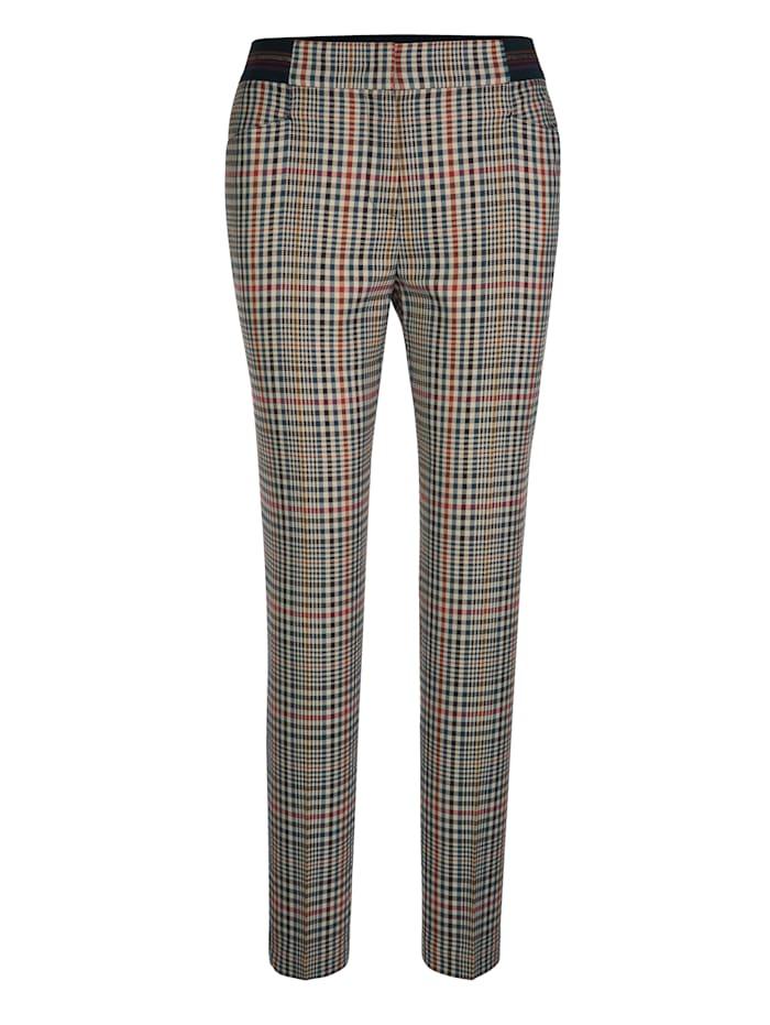 Hose mit modischem Karo-Muster