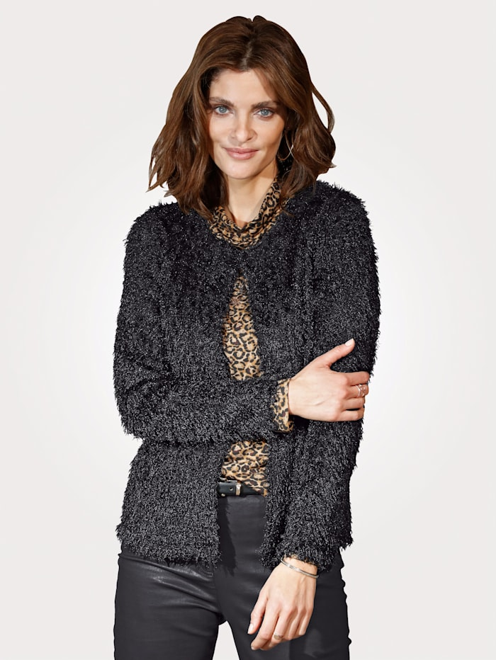 MONA Jacket in a fluffy fabric, Black