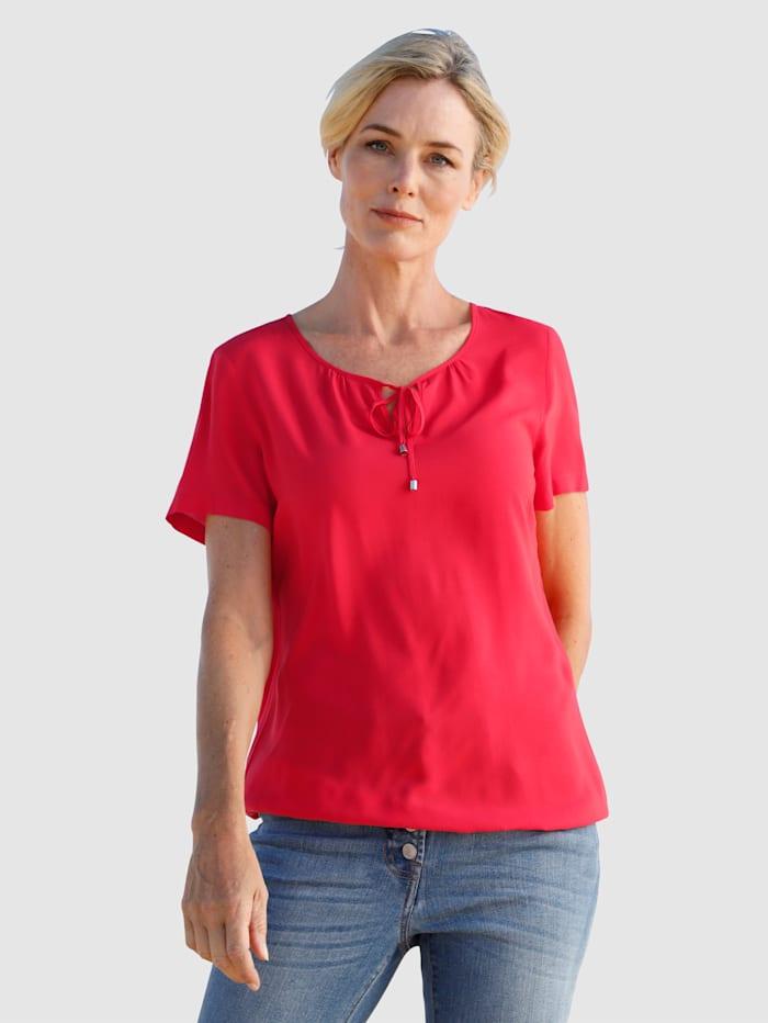 Dress In Bluse in fließender Qualität, Rot