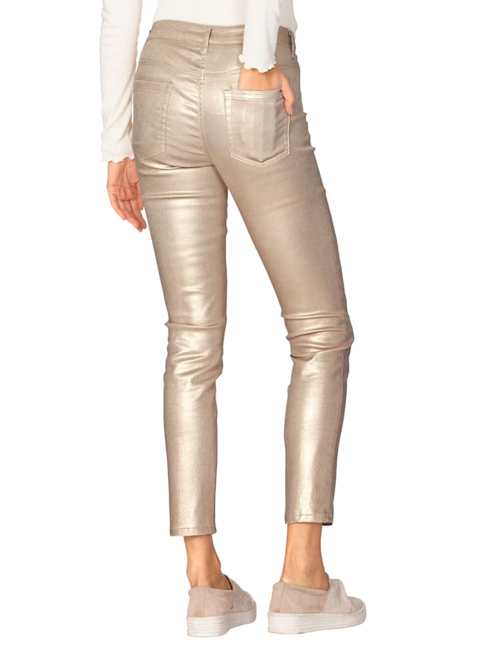 Broek in metallic look