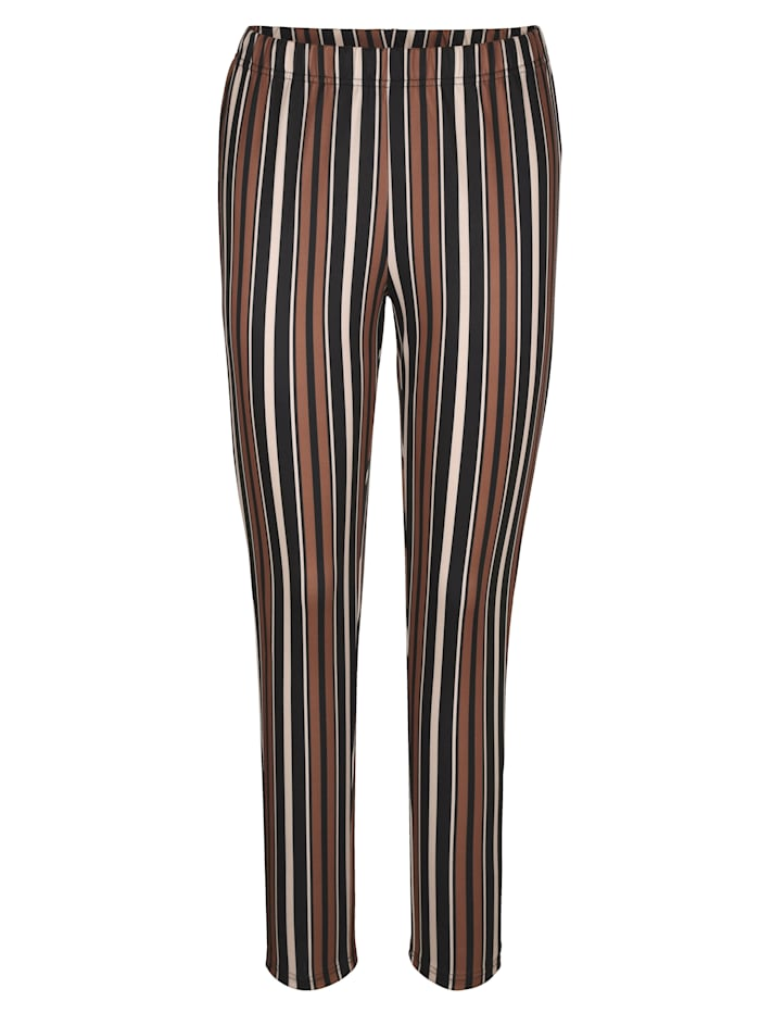 Žerzej kalhoty s proužkovým vzorem