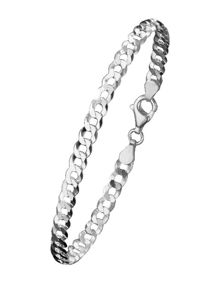 Gourmettearmband van echt zilver, Zilverkleur
