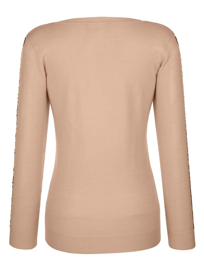 Pullover mit Paillettenstreifen