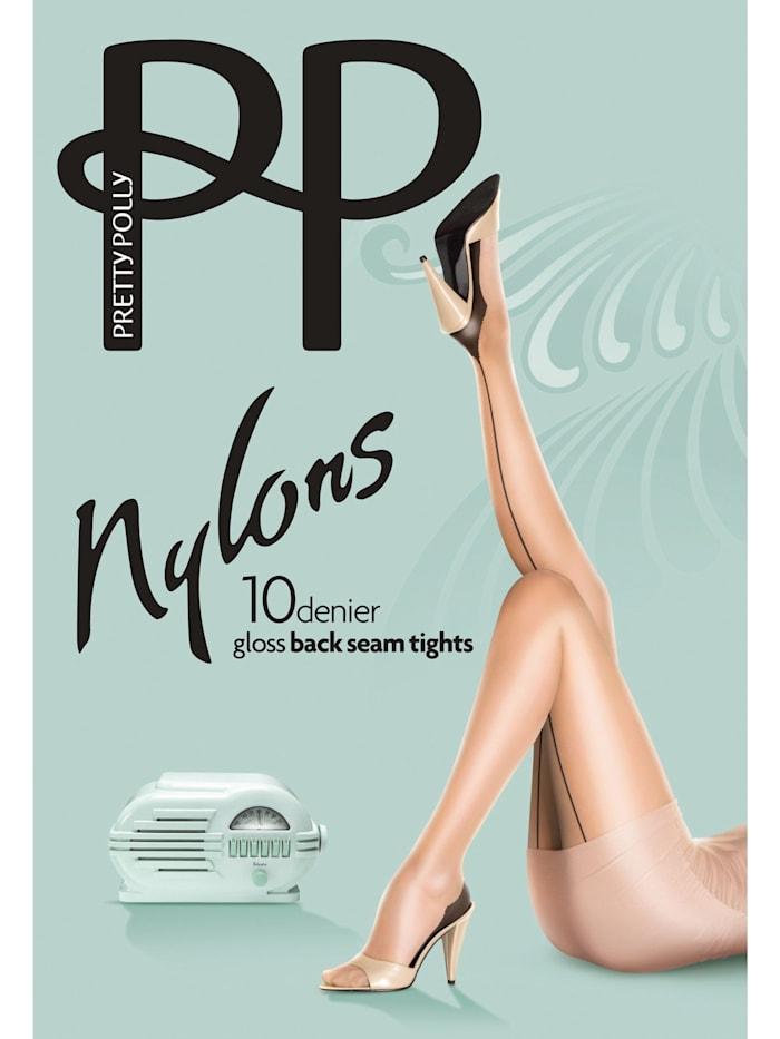 Nylons 10D Gloss Backseam Tights