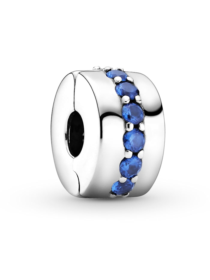 Pandora Clip-Charm -Blauer leuchtender Pfad 791972C01, Silberfarben