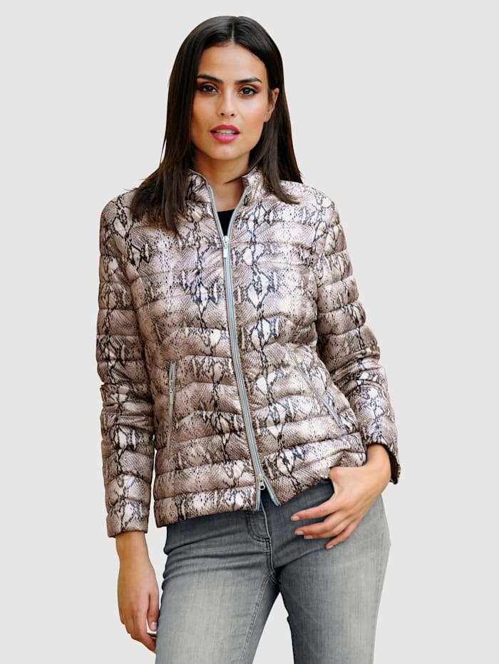Gewatteerde jas met animalprint
